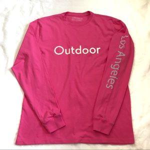 NWOT OV LA long sleeve shirt hot pink Los Angeles
